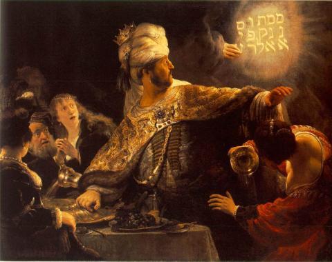 Rembrandt van Rijn: Das Gastmahl des Königs Belschazzar
