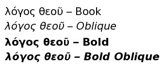 DejaVu Sans Varianten